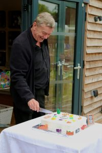 Garry Cuts The Cake
